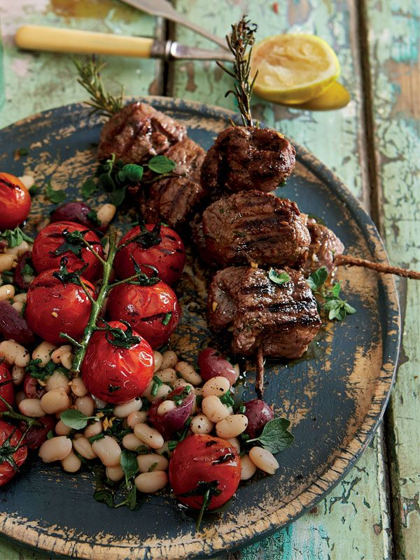Ostrich Fillet, Tomatoes And Cannellini Beans