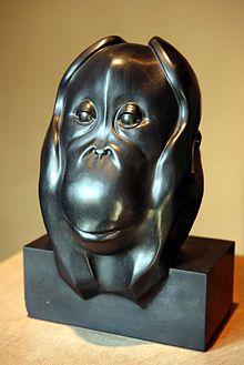François Pompon - Tête d'Orang-outan - 1930 - musée des beaux-arts de Dijon