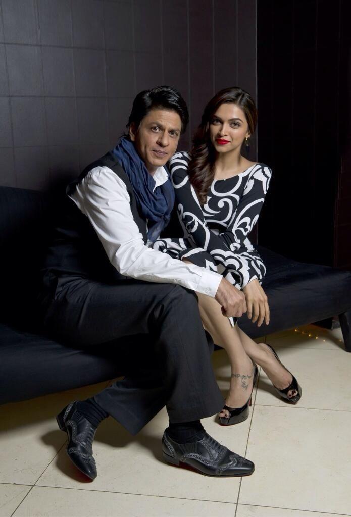 Deepika Padukone and Shahrukh Khan in London