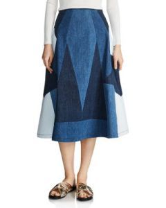 Jabla #Patchwork #Denim Skirt