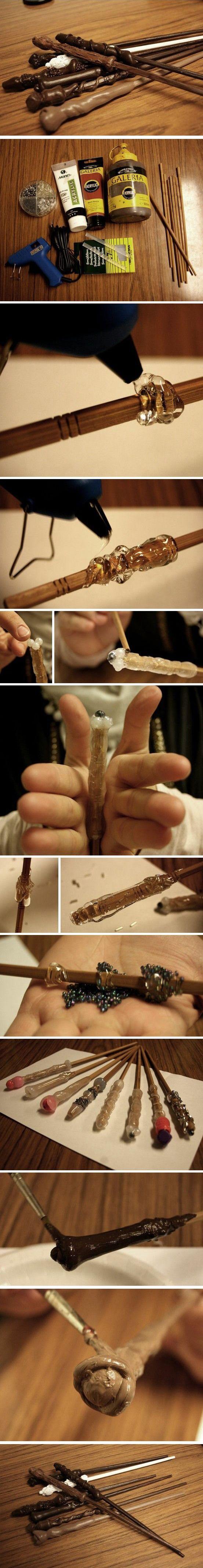 DIY Harry Potter Magic wand / Магия праздника: 50 классных идей для вечеринки в стиле Гарри Поттера - Ярмарка Мастеров - ручная работа, handmade