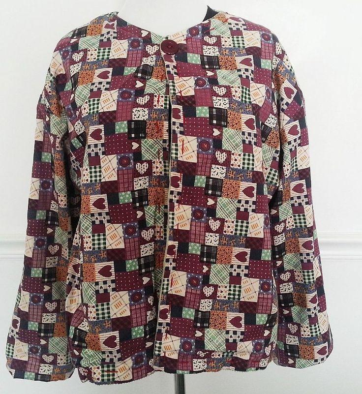 Reversible Hand Made Christmas Jacket Ugly Sweater Santa Corduroy Tree Quilt #Unbranded #Jacket