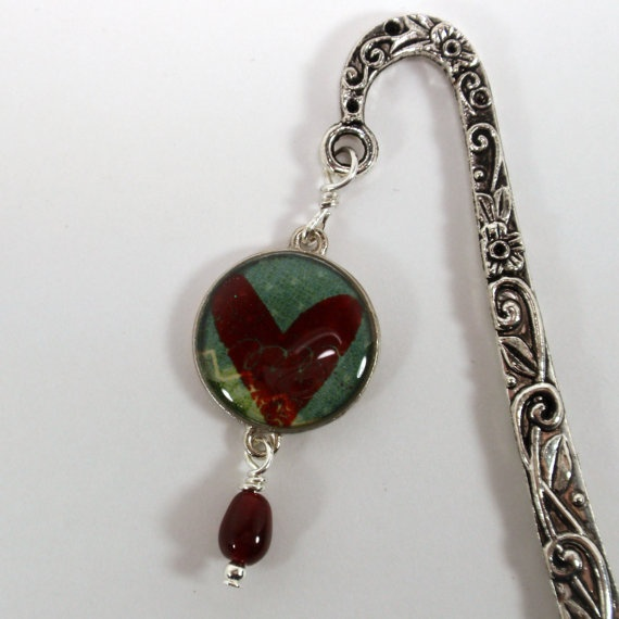 Abstract Heart in Resin Charm Silver by JudithAnnDesigns on Etsy, $8.00