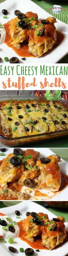 This dish is very easy to make. It's Mexican with a twist. My kids love these stuffed shells.