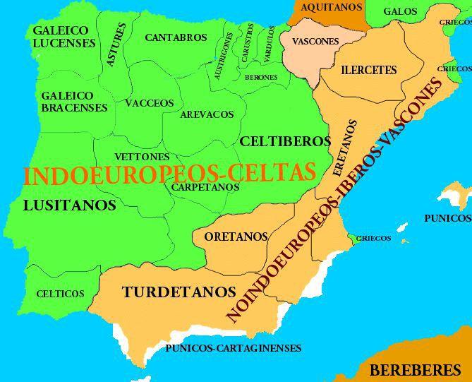 Península Ibérica en la Antigüedad.