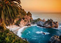 California Pacific Ocean waterfall