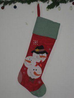 Christmas stockings ( red green plaid bottom edge )