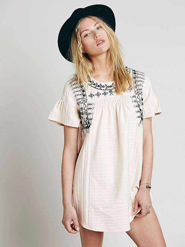 Free People FP New Romantics Heritage Embroidered Tunic, C$217.52  SEA friendly?