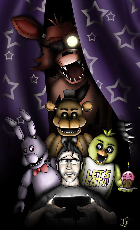 Five Nights at Freddy's - Markiplier by InvaderSaph.deviantart.com on @deviantART