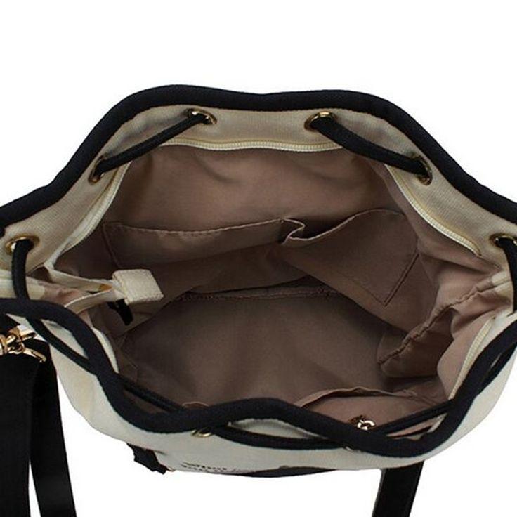 2016 новинка ретро женщины холст ведро сумки милый кот печать сумка милые животные свободного покроя дамы шнурок школьные сумки купить на AliExpress