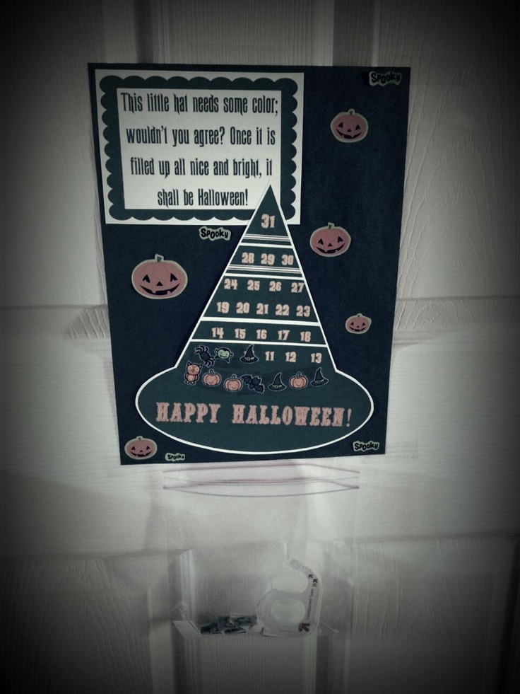 Halloween diy, Count and Stickers on Pinterest