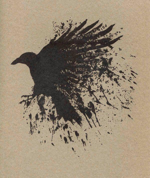 Knowledge of The Raven Art Print, As Gaeilge, in Irish, Fios Cionn Fiagh, Dark Gothic Art Drawing 100% recycled eco card by Modru on Etsy https://www.etsy.com/listing/185895525/knowledge-of-the-raven-art-print-as
