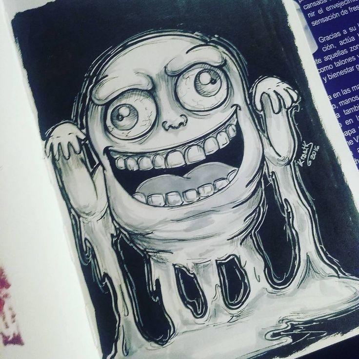 #ghostbuster #slimer #pegajoso #fantasma #ghost #ink #pentel #pentelbrush #ktaatk #artistoninstagram #cazafantasmas