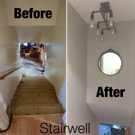 Before And After Stairs. Stairwell Update