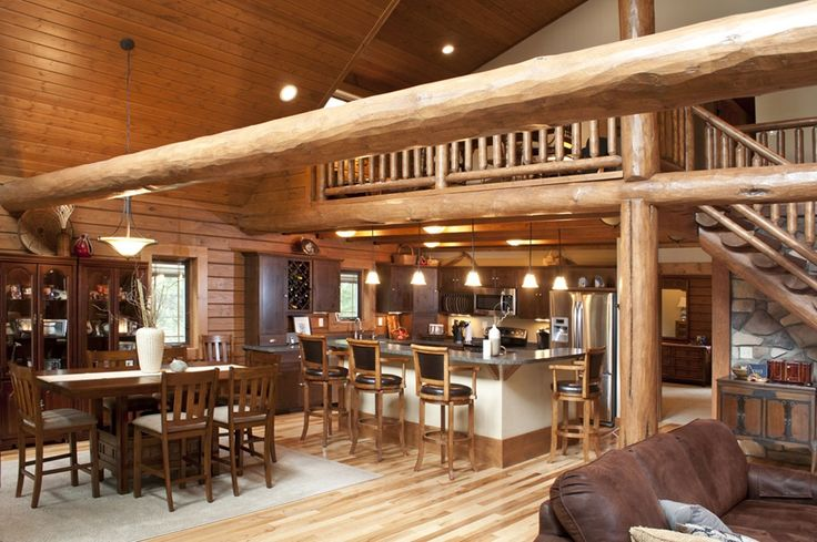 Wisconsin log home with an open floor plan cabin life magazine cabin interior design decor - Cabin floor concept ...