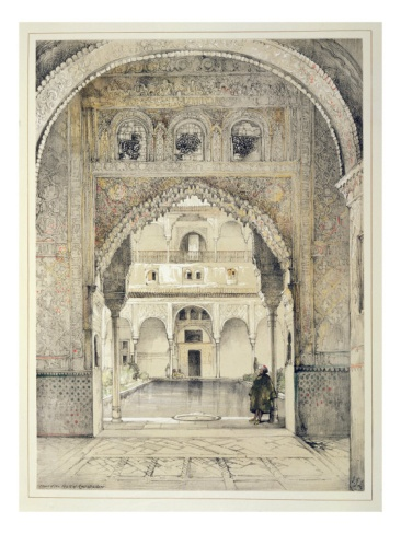 John Frederick Lewis (1805 - 1876, English) Sketches and Drawings of the Alhambra: Door of the Hall of Ambassadors