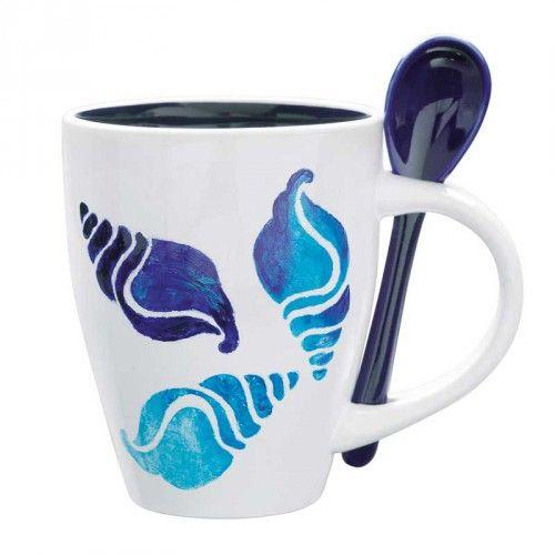 "Porcelain Tassen-Set ""OceanBlue"" 13-teilig - idee. Online-Shop"
