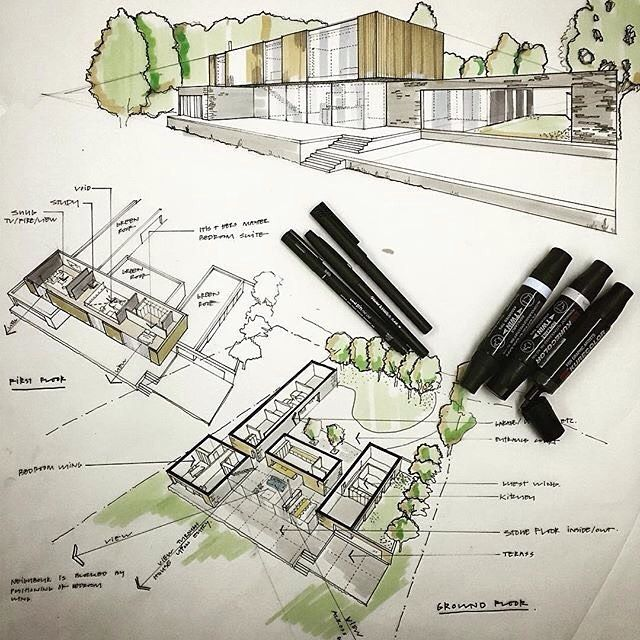 Illustrations for a client presentation by Magnus Strom Architects @magnusstrom #ArchiSketcher