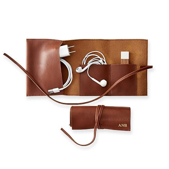 Leather Charger Roll Up #makeyourmark