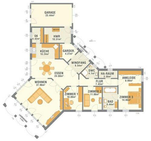 Musterhaus grundriss bungalow  20 besten Grundrisse Bungalow Bilder auf Pinterest | Grundriss ...