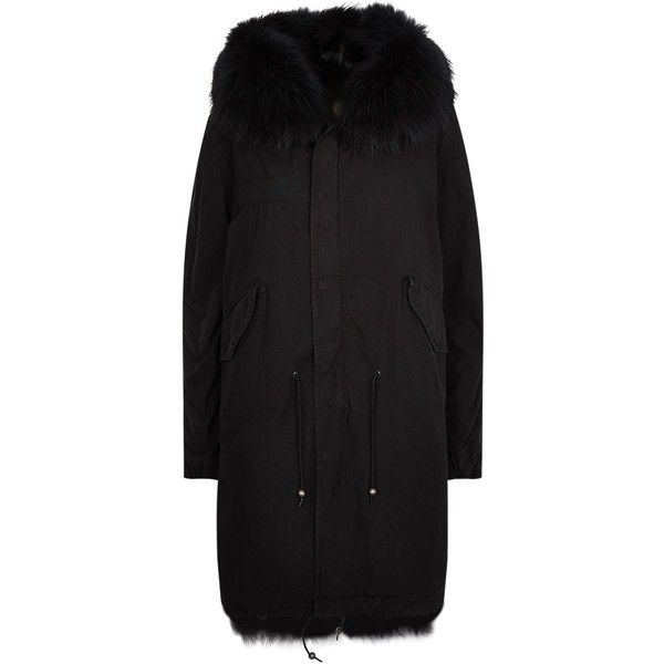 Mr & Mrs Italy Fur Lined Long Parka (13.535 BRL) ❤ liked on Polyvore featuring outerwear, coats, long length coats, fur lined parka coat, long coat, fur lined parka and long fur lined coat