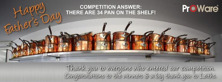 ProWare Kitchen's Father's day competition answer. Competition now closed.