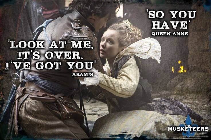 """I've got you."" Aramis & Queen Anne. 