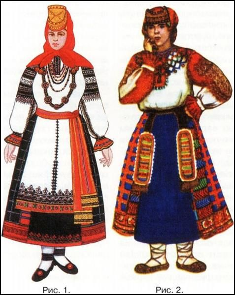 Национальный русский женский костюм в воронежской области