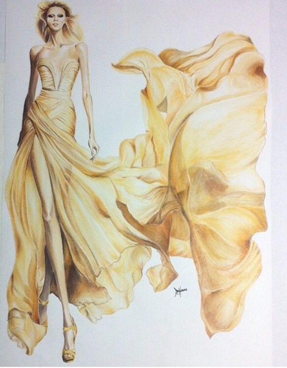 Elie Saab Le Parfum AD Fashion Illustration by Delimarcouture. Instagram: delimarcouture http://www.facebook.com/Delimarcouture #fashionillustration #eliesaab