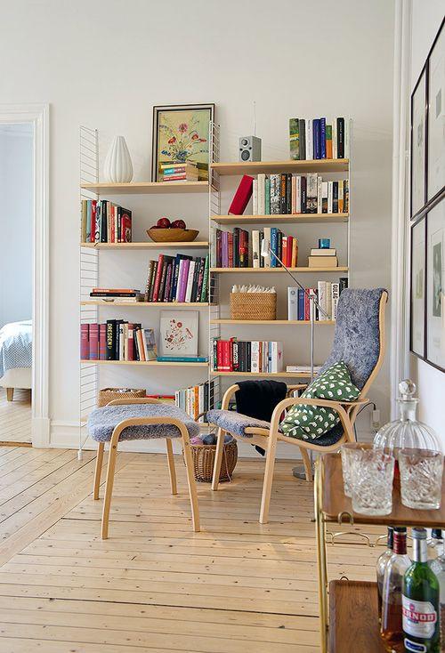 Mid Century Modern Shelving/furniture. Cosy CornerBookshelf StylingWood  ShelvesReading ...