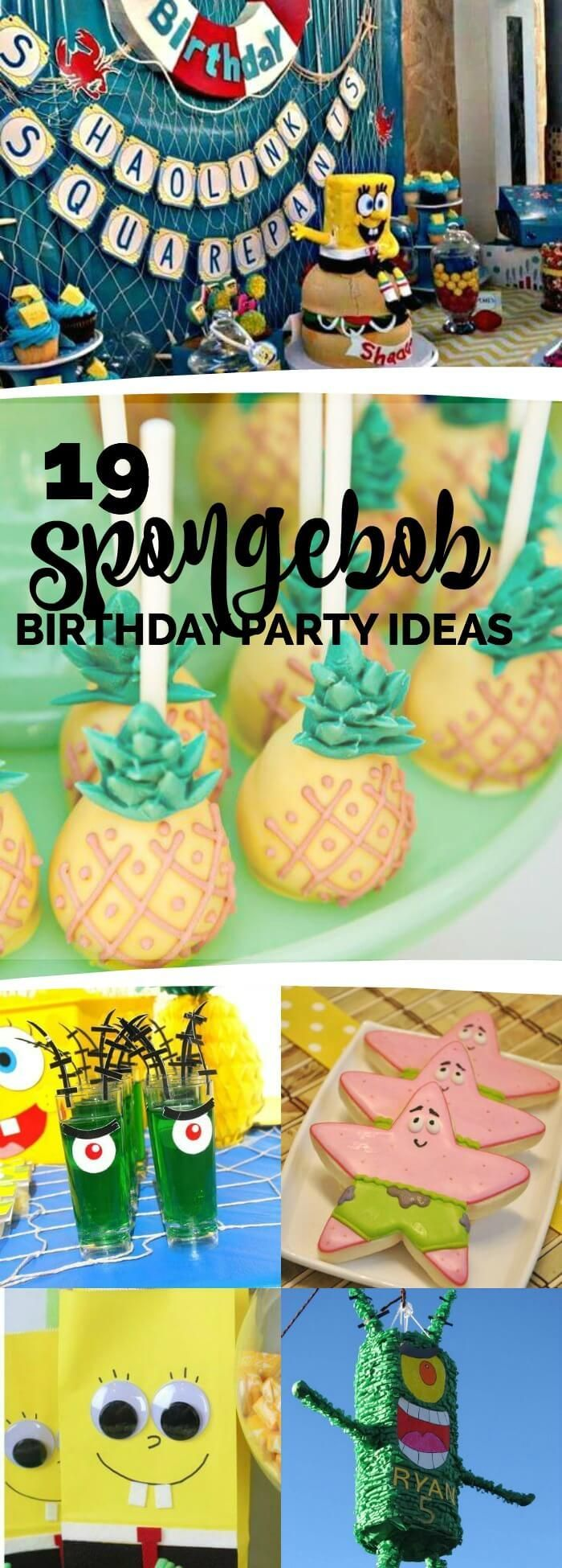 19 Sponge Bob Party Ideas, Your Kids Will Love This One, Pin Now!