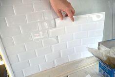Peel and stick tile back splash