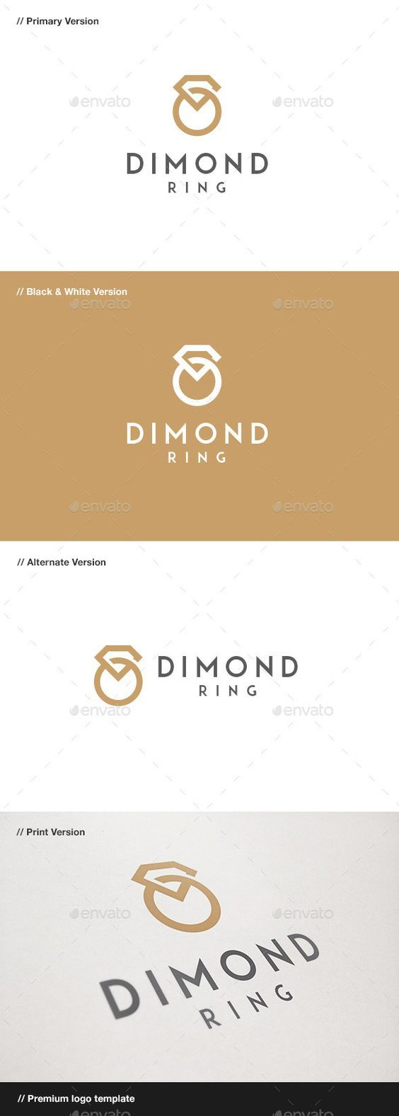 creative converted templates diamond market logo dacascas