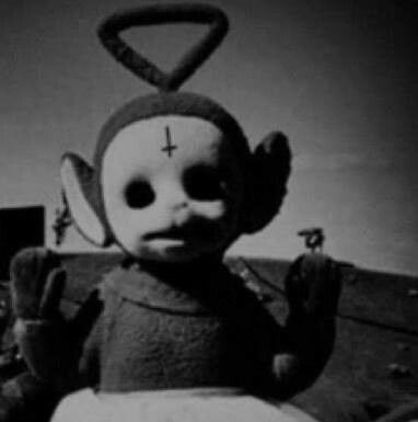 Best Teletubbies Movies Images On Pinterest Childhood - Teletubbies in black and white is terrifying