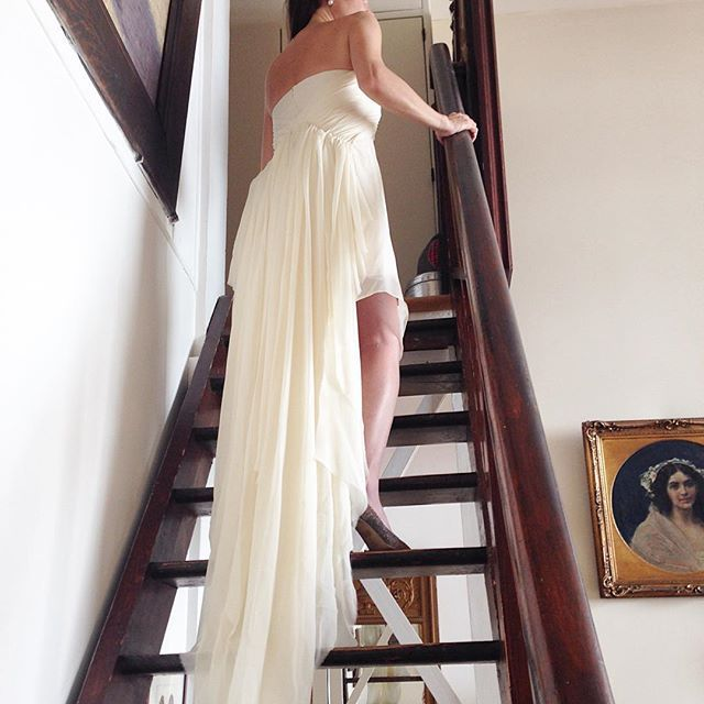 The beautiful Athena gown, captured in an 18th century painter's atelier in Paris! The perfect boho-chic wedding dress for the beach or ballroom. #paris #wedding #vancouverwedding #bridal #boho #bohemian #bohochic #etsy #elikainlove    #Regram via @elika.in.love