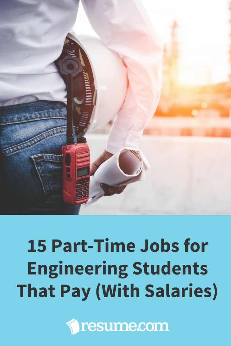 We see a lot of engineering students looking for engineering internships (around 9,400 a month in the US), but why look for non-paid engineering position when you could get a suitable gig that actually pays? Here are 15 part-time jobs for engineering students that don't suck (with salaries).