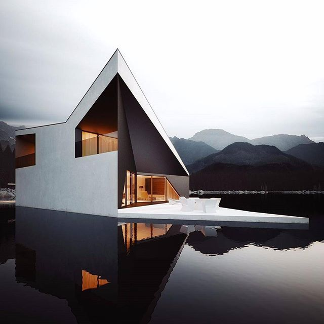 Modern Lake House Design: 1000+ Ideas About Rendered Houses On Pinterest