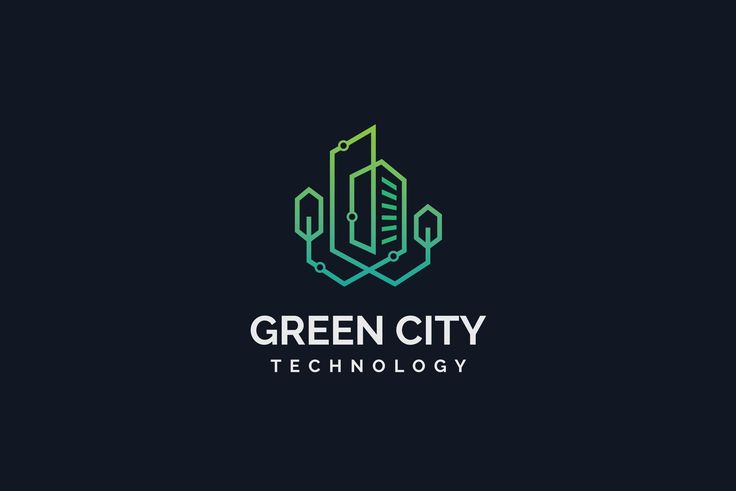Modern green city technology environment abstract business branding artistic illustration modern logo design #logo #design #green #technology