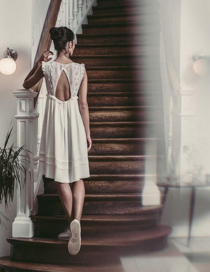 Laure de Sagazan - Robes civiles | Modèle: Robe Voltaire | Crédits: Laurent Nivalle | Donne-moi ta main - Blog mariage