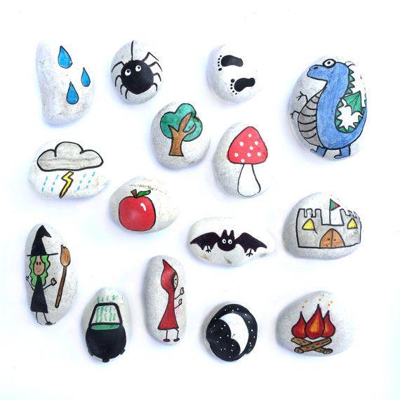 Set de piedras de la historia cuento de hadas por LittlebyNature