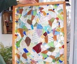 Sea Glass Craft Tutorial: Window