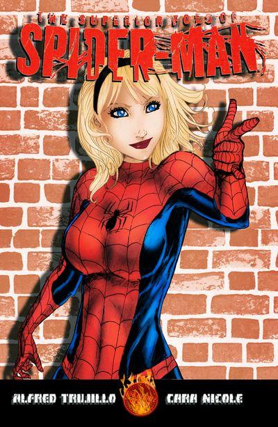Spider Gwen - Spider-Man - 11x17 art print by Alfred Trujillo COLORED by Az Powergirl/Cara Nicole · Alfred Trujillo & AZ Powergirl · Online Store Powered by Storenvy