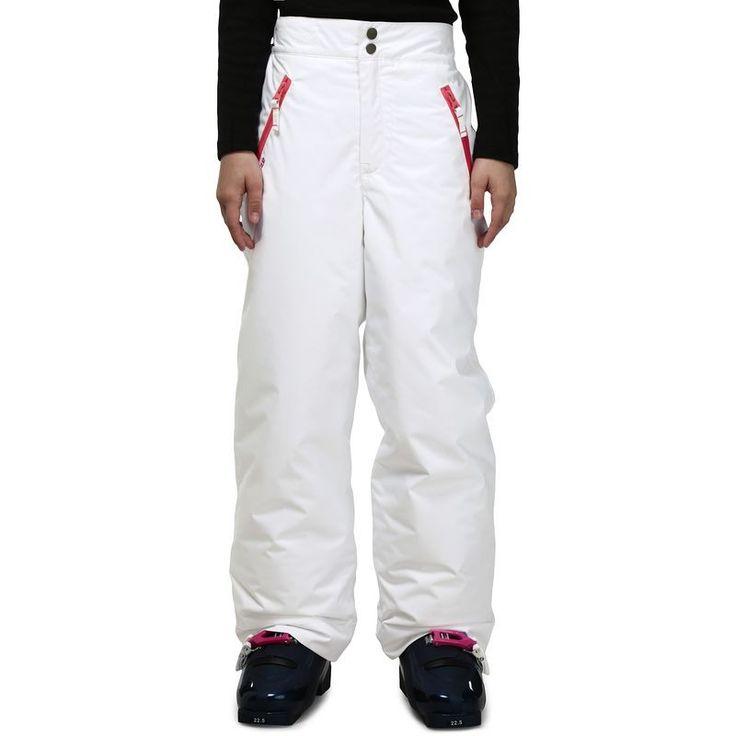 Dievčenské lyžiarske nohavice Firstheat biele