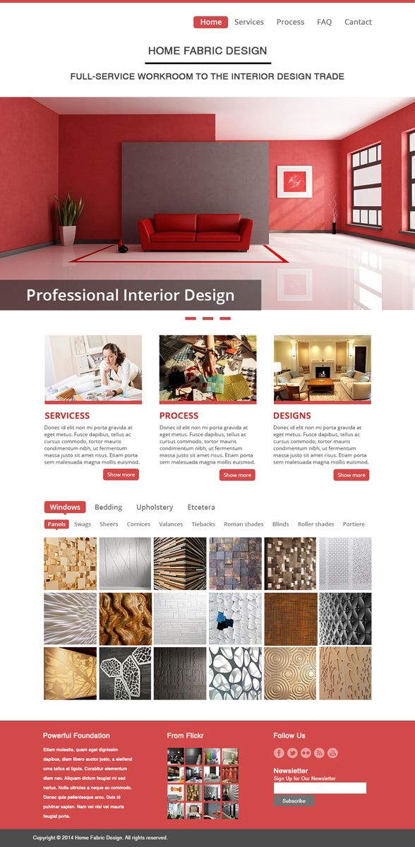 Retail HomePage Design