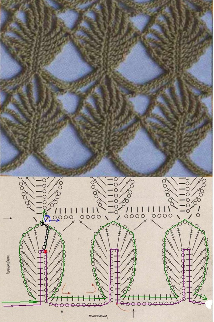 lovely leaf stitch... fairly easy to understand