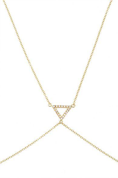Shop now: Halleh 18-karat Gold #bodychain $3,190