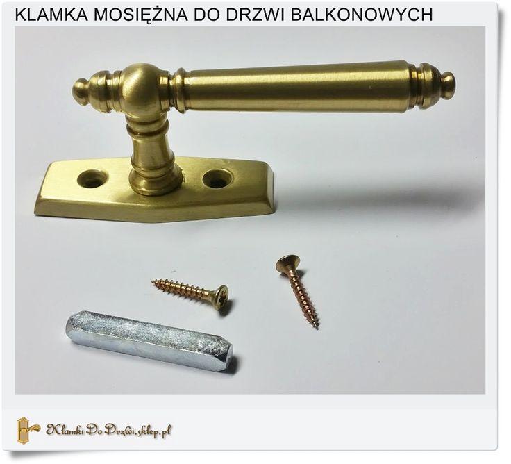 Długa klamka do drzwi balkonowych mosiężna Hand-made