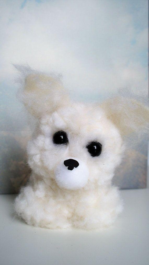 Samoyed Yarn Pom-Pom Puppy by YuriandYanvar on Etsy