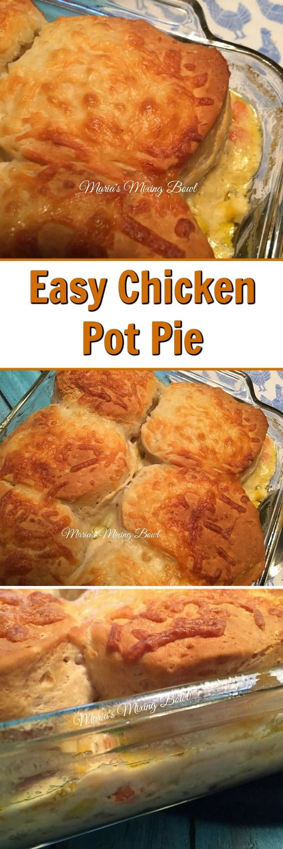 Easy Chicken Pot Pie - This creamy, delicious family meal is quick and easy and perfect for busy weeknights! #easy #chicken #pie