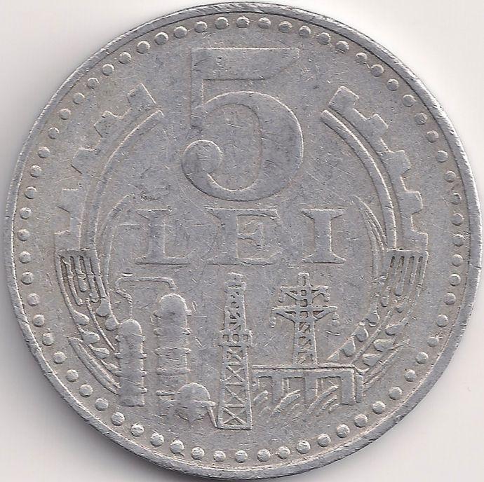 Wertseite: Münze-Europa-Südosteuropa-Rumänien-Leu-5.00-1978